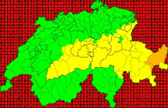 Aktuelle Unwetterkarte Schweiz